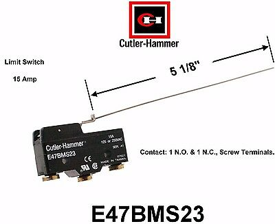 Eaton E47BMS23 Limit Switch, Compact Precision, Integral Leaf  Cutler  Hammer