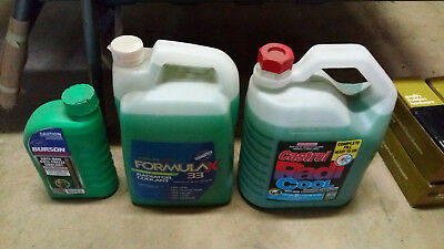 Radiator Coolant Premix 10L And Concerntrate 1L Lot Of 3