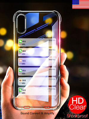 for iPhone X 8 7 6 6S Plus Case Clear Soft Silicone Back Cover TPU Shockproof 10
