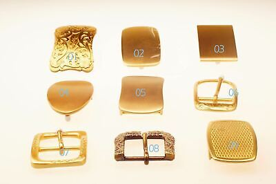 Artisic Design Quality Solid Brass Pin belt Buckle Leathercraft 40mm gold Luxury