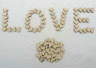 Heart Blank Table Shape Supply Rustic Wooden Wedding Party Love 100pcs Crafts