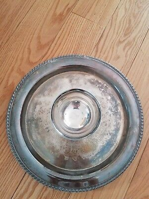 Vintage Wm. A. Rogers by Oneida Ltd Silver Chip and Dip Bowl
