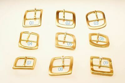 Quality Solid Brass Pin Buckle for Men Women Leathercraft DIY Belt 38/40mm gold
