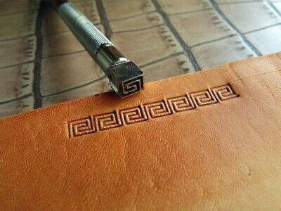 Stainless Steel  leather craft Geometric frame Decorative pattern Stamp Tool