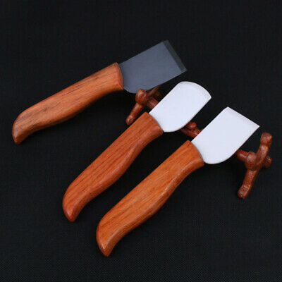 Black / White Nano-Ceramic Blade Knife cutting Leather cutter tool wooden handle