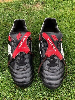Kooga FTX, Black leather, Rugby Boots, size 8, worn for 1season