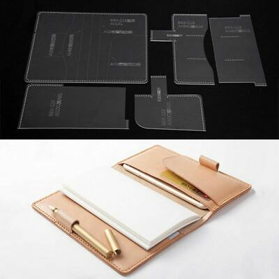 Acrylic note book case Template Leather craft Pattern model stencil BBX-123