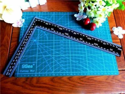 Steel Tri Framing Set Try Square Right Angle Straight Edge L Ruler 30Cm*20Cm