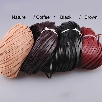 5M Flat Genuine Leather craft Rope Cord for Bracelet Necklace Strap DIY 2/3mm