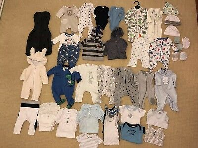 bulk baby boys clothes size 0000 and 00000 newborn and premature