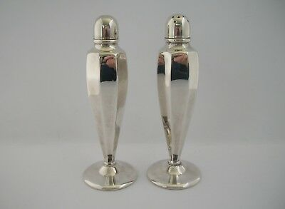 Vintage Silver Perfection EPNS A1 Silverplate Salt & Pepper Shakers Boxed c1950s