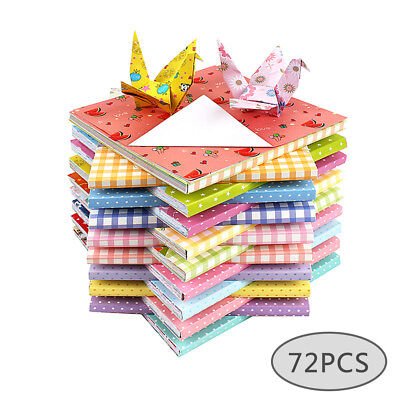 72Sheets 15*15cm Square Colorful Origami Scrapbooking Pads Paper DIY Paper Craft