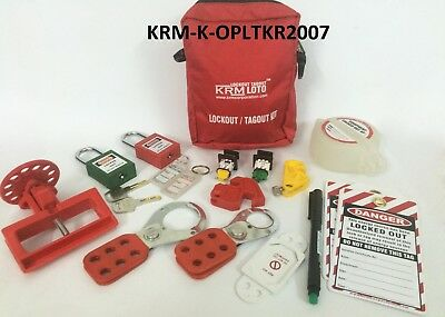 Krm Loto - Osha Personal Lockout Tagout Kit - Red
