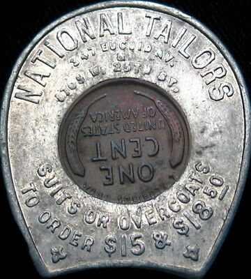 1915 Encased Cent Chicago Illinois National Tailors