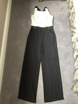 Ted Baker Cream And Black Jumpsuit Size 3