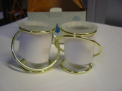Partylite Gold Plated Gemini Candle Holders - Nib