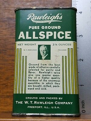 "Vintage RAWLEIGH""S ALLSPICE SPICE TIN Freeport IL Advertising Litho"
