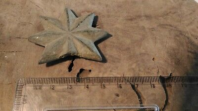 BRONZE ANCIENT ROMAN GREEK Celtic star APPLIQUE  fibula brooch 100 300 AD belt