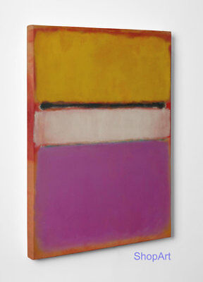 Quadro Astratto Mark Rothko Untitled Stampa su Tela Canvas Vernice Pennellate
