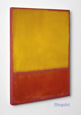 Quadro Rothko Ochre and Red on Red Stampa su Tela Vernice Pennellate