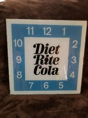 Vintage Pam Advertising Clock Glass - DIET RITE COLA - Replacement Glass