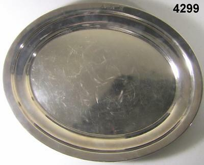 STERLING SILVER PLATTER  23.3 OZ 14 x 11 inches WHITING MANUFAC. INIT. AKR #4299