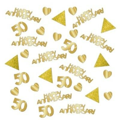 28g GOLDEN ANNIVERSARY CONFETTI GOLD 50 YEAR 50th PARTY TABLE DECORATION WEDDING