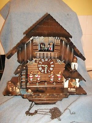 German cuckoo clock - Albert Schwab Karlsruhe - Triple weight