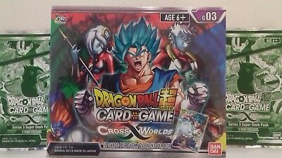 DRAGON BALL SUPER TCG SERIES 3 CROSS WORLDS BOOSTER BOX. Inc Dash Packs.