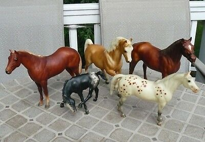 Breyer Molding Co Horses Lot of 5 Mixed Traditional Pinto Speckled