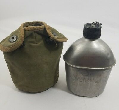 WW2 WWII US U.S. Canteen,Army,Cover,Original,Dated,1945,Military,Canvas,Web,Gear