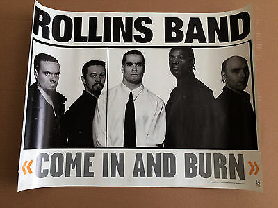 Rollins Band Come In And Burn Original Usa Record Store Poster