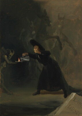 Francisco de Goya A Scene from The Forcibly Bewitched Giclee Canvas Print Poster