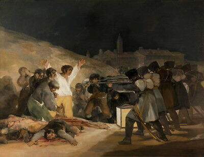 Francisco de Goya  The 3rd of May 1808 Giclee Canvas Print Poster Paintings