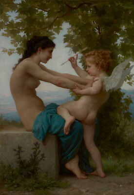 William Adolphe Bouguereau A Young Girl Defending Herself Giclee Canvas Print