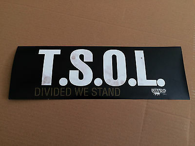 T.s.o.l. Tsol Divided We Stand Double Sided Original Usa Record Store Poster