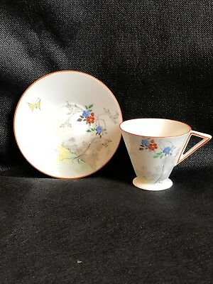 Super Shelley EVE style coffee cup and saucer 1932-40 stunning!!!