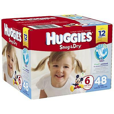 HUGGIES Snug and Dry Diapers, Step 6, Big Pack Part No. 40704 Qty  Per Case
