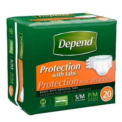 """Depend Protection Brief with 4 Tabs Small/Medium 19"""" - 34"""" Part No. 35456 (Qty 6"""