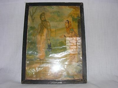 Original Old Litho print of Rawan in the character of Holy man Photo Frame