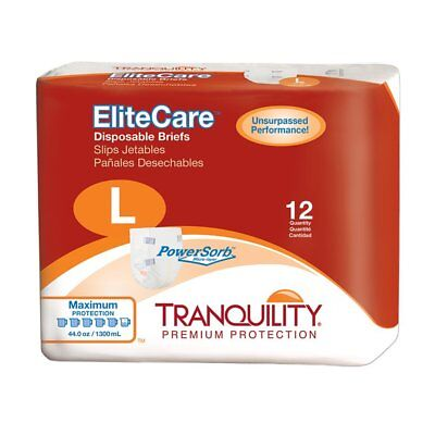 """Tranquility elite care brief, large, 45"""" - 58"""" part no. 2413 (12/package)"""