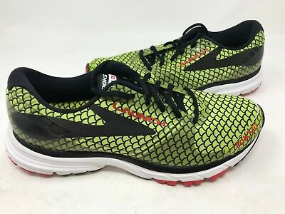 edee8e7e68b NEW! BROOKS WOMEN S Launch 3 Tokyo Running Shoes Neon Black Red ...