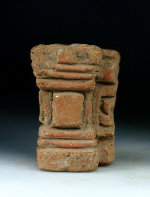 *SC*A POTTERY PILLAR FROM A MINIATURE HOUSE, JAVANESE MAJAHAPIT, 11th-13th cent