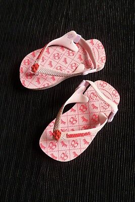 Girls clothes 2-3 years Havaiaanas pink flip-flops size euro 23,USA 7C see shop!