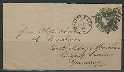 Cape of Good Hope Cover Queen Victoria Whittlesea Ciskei 22.10.1894 to Herrnhut