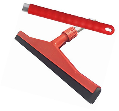 Red Professional Hard Floor Cleaning Squeegee & Strong Alloy Handle For Tiles, C