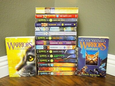 Warriors Lot of 17 Books by Erin Hunter - Mix of Series and Titles