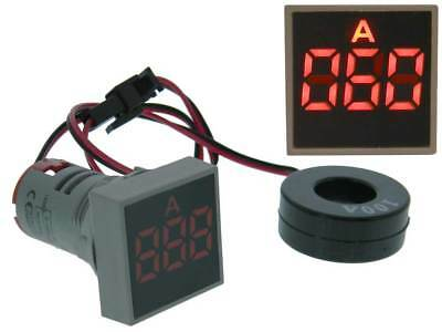 Amp Meter Square AC 0-100A Red LED *35170 ME