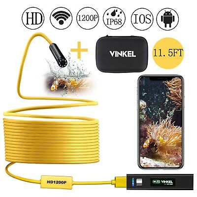 Wireless Endoscope, Snake Camera Inspection Camera Kit 1200P HD IP68 Waterproof