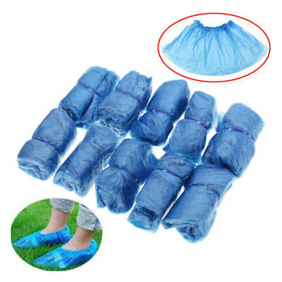100 Pcs Medical Waterproof Boot Covers Plastic Disposable Shoe Cover Overshoe A